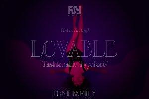 LOVABLE FONT FAMILY