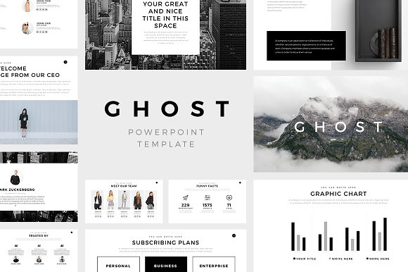 Ghost minimal powerpoint template presentation templates ghost minimal powerpoint template presentation templates creative market toneelgroepblik Gallery