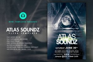 ATLAS SOUNDZ Flyer Template