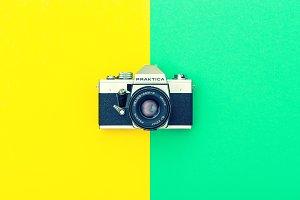 Vintage camera Hipster Instagram