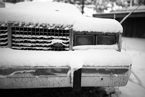 Old Ford in the Snow