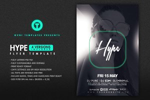 4in1 HYPE Flyer Template