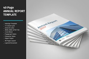 40 Page Annual Report Template
