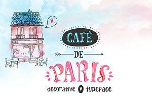 Cafe de Paris, Typeface with Bonus