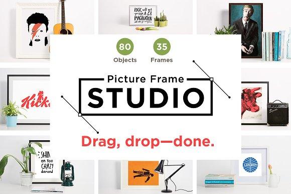 Picture Frame Studio mockup creator ~ Product Mockups ~ Creative Market
