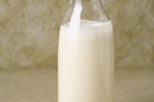 Peanut milk in a bottle