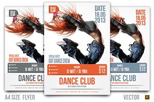Dance Club Event Flyer