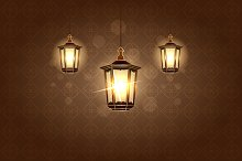 Ramadan lantern.Vector illustration