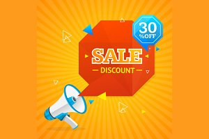 Big Sale Label. Vector