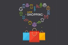 Shopping Clothing Season Concept