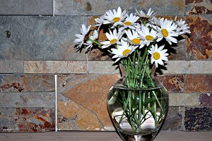 bouquet of daisies in vase