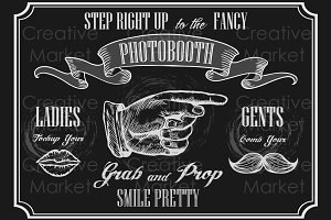 Photobooth pointer sign.