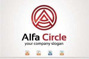 Alfa Circle,A Letter Logo