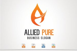 Allied Pure,A Letter Logo