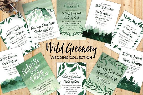 Wild Greenery Wedding Collection