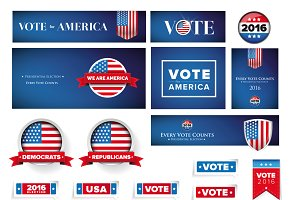 USA Presidential and election set 2