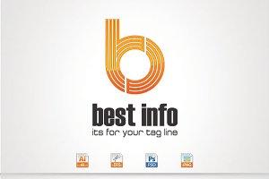 Best Info,Letter B,P Logo