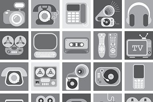 Home Electronic Grayscale Icons