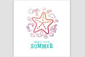 Summer trip poster design.