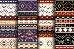Collection of four seamless patterns