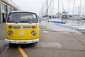 Yellow VW Bus
