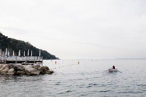 Fisherman Leaving the Marina