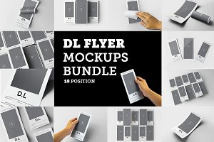 DL Flyer Mockups Bundle