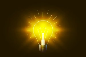 Lighting bulb with golden light