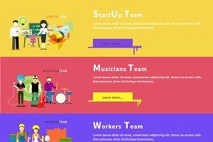 Startup Team. Musicians Group