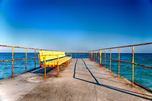 Bench On Sea