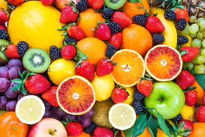 Fruits background.