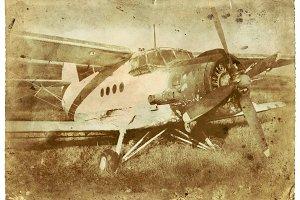 Old School Airplane Vintage Photo