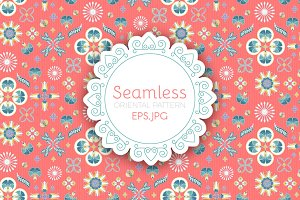 Oriental Seamless Pattern. Eps,Jpg