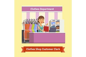 Clothes shop clerk