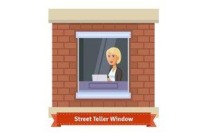 Street teller window