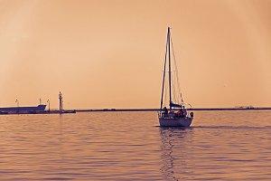 Departuring Yacht
