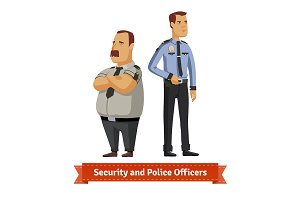 Security and police officers