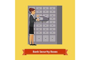 Bank clerk woman