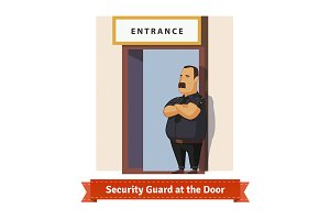 Security guard at the door
