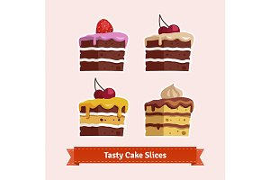 Tasty cake slices