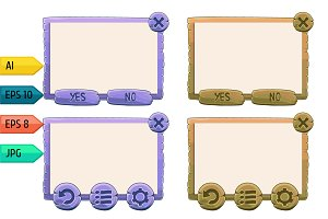 Vector game windows purple and khaki