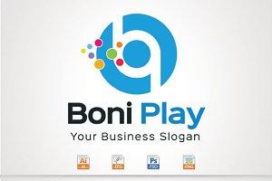 Boni Play,B & P Letter Logo