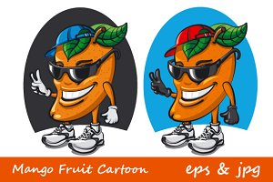 Mango Fruit Cartoon