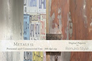 Metals 12 Digital textures