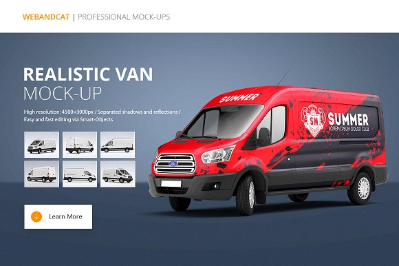 Van Mock-Up 2 - Product Mockups