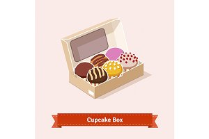 Cupcakes in the cardbox