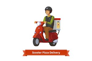 Scooter pizza delivery