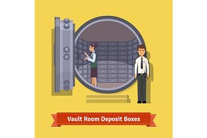 Bank vault room
