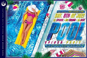 Pool Splash Party Flyer Template