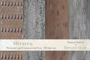 Metals 15 Digital textures